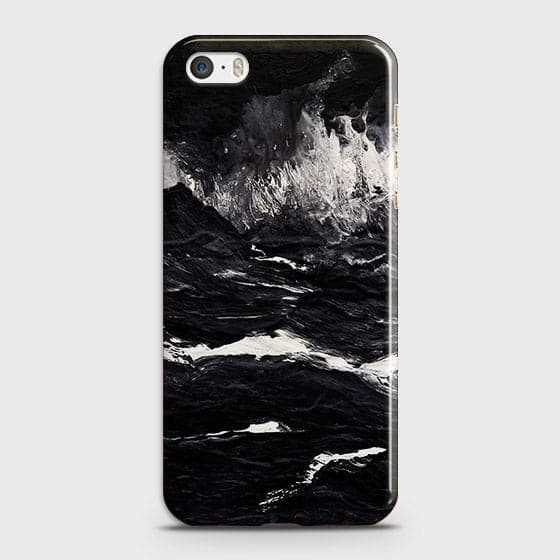 3D Black Ocean Marble Trendy Case For iPhone 5C