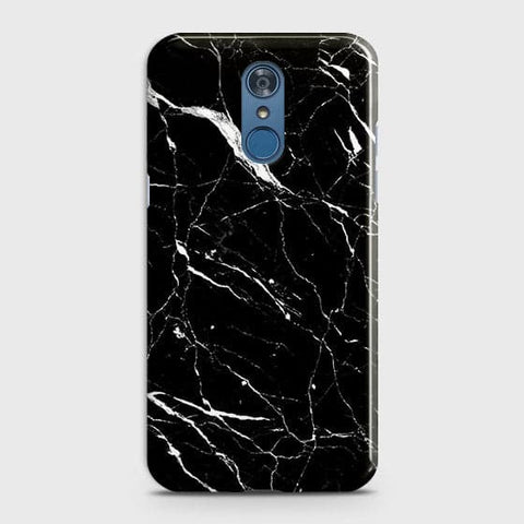 Trendy Black Marble Case For LG Q7