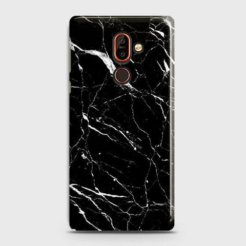 Trendy Black Marble Case For Nokia 7 Plus
