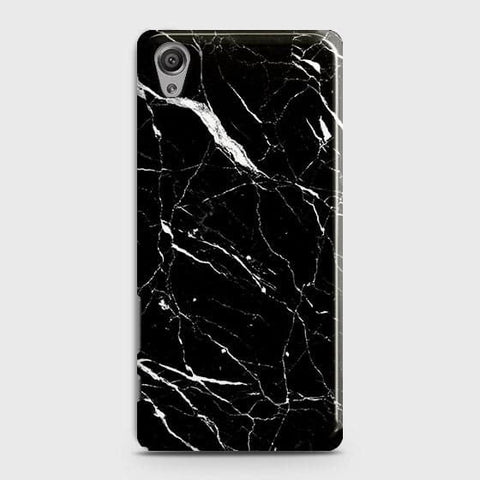 Trendy Black Marble Case For Sony Xperia XA