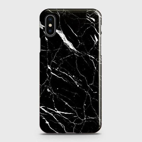 Trendy Black Marble Case For iPhone XS Max