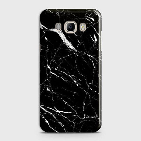 Trendy Black Marble Case For Samsung Galaxy J510