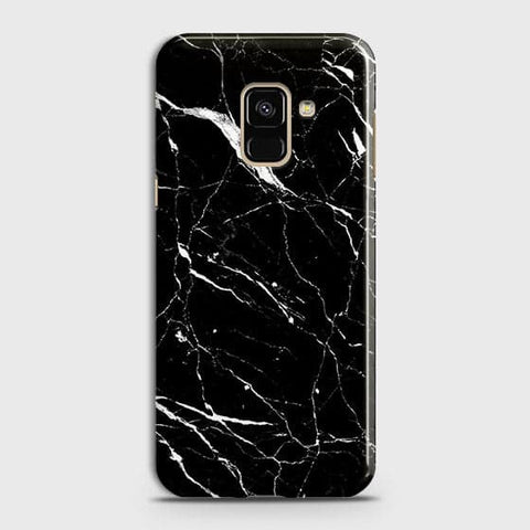 Trendy Black Marble Case For Samsung A8 Plus 2018