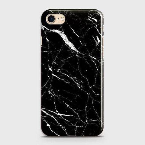 Trendy Black Marble Case For iPhone 7 & iPhone 8