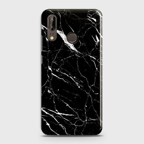 Trendy Black Marble Case For Huawei P20