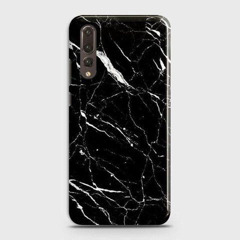 Huawei P20 Pro - Trendy Black Marble Printed Hard Case With Life Time Guarantee