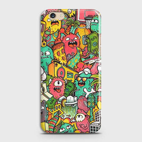 Candy Colors Trendy Sticker Bomb Case For Oppo F1S