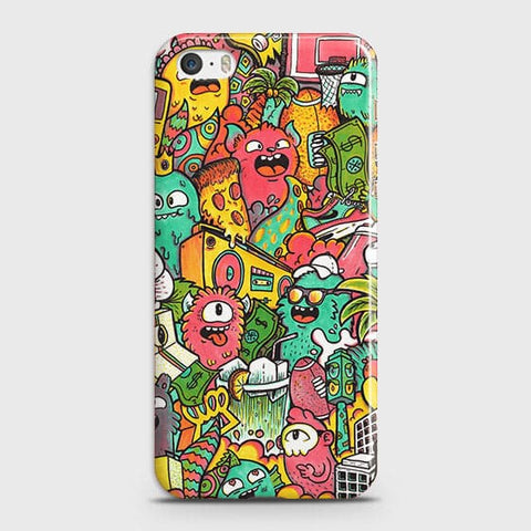 Candy Colors Trendy Sticker Bomb Case For iPhone 5 & iPhone SE