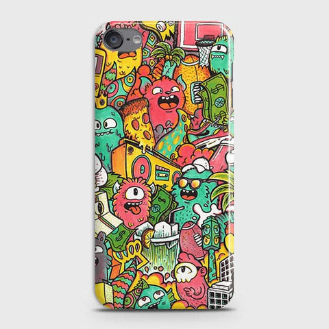 Candy Colors Trendy Sticker Bomb Case For iPod Touch 6