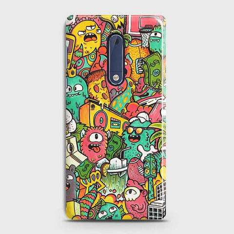 Candy Colors Trendy Sticker Bomb Case For Nokia 5