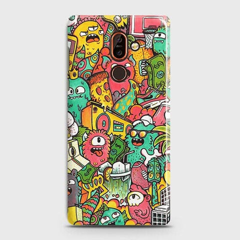 Candy Colors Trendy Sticker Bomb Case For Nokia 7 Plus
