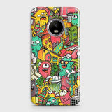 Candy Colors Trendy Sticker Bomb Case For Motorola E4 Plus