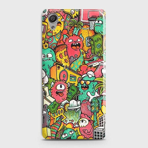 Candy Colors Trendy Sticker Bomb Case For Sony Xperia XA