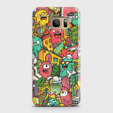 Candy Colors Trendy Sticker Bomb Case For Samsung Galaxy S7