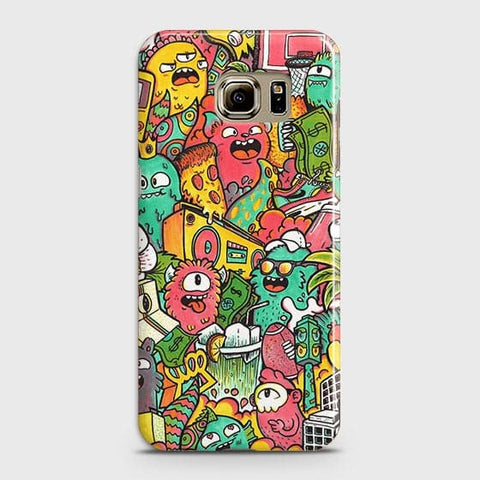 Candy Colors Trendy Sticker Bomb Case For Samsung Galaxy S6