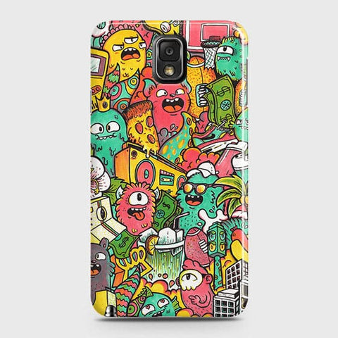 Candy Colors Trendy Sticker Bomb Case For Samsung Galaxy Note 3