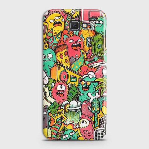 Candy Colors Trendy Sticker Bomb Case For Samsung Galaxy J7 Prime