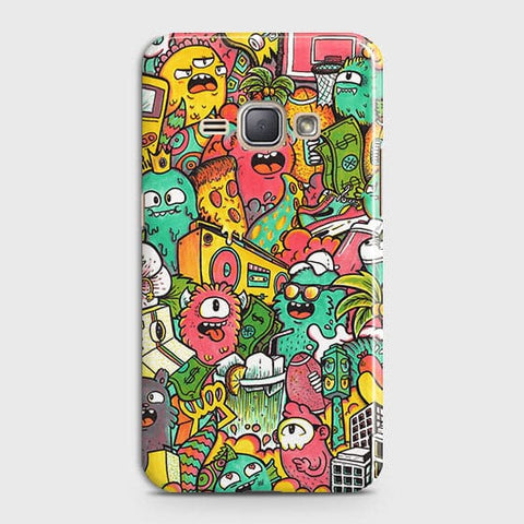 Candy Colors Trendy Sticker Bomb Case For Samsung Galaxy J1 2016 / J120