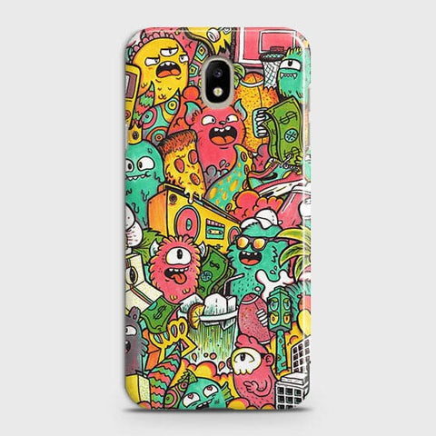 Candy Colors Trendy Sticker Bomb Case For Samsung Galaxy J7 2018