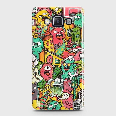 Candy Colors Trendy Sticker Bomb Case For Samsung Galaxy E5
