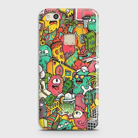 Candy Colors Trendy Sticker Bomb Case For Huawei P10 Lite