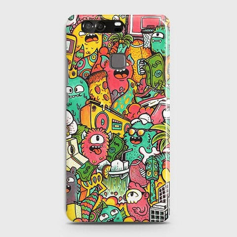 Candy Colors Trendy Sticker Bomb Case For Huawei P9