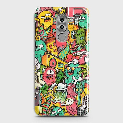 Candy Colors Trendy Sticker Bomb Case For Huawei Honor 6X