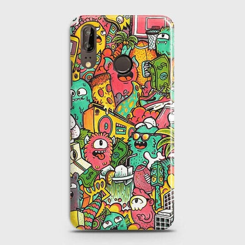 Candy Colors Trendy Sticker Bomb Case For Huawei P20