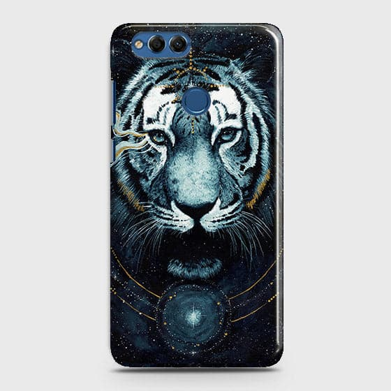 Huawei Honor 7X Cover - Vintage Galaxy Tiger Printed Hard Case with Life Time Colors Guarantee - OrderNation