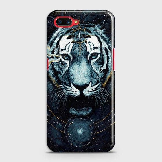 Oppo A5 Cover - Vintage Galaxy Tiger Printed Hard Case with Life Time Colors Guarantee - OrderNation