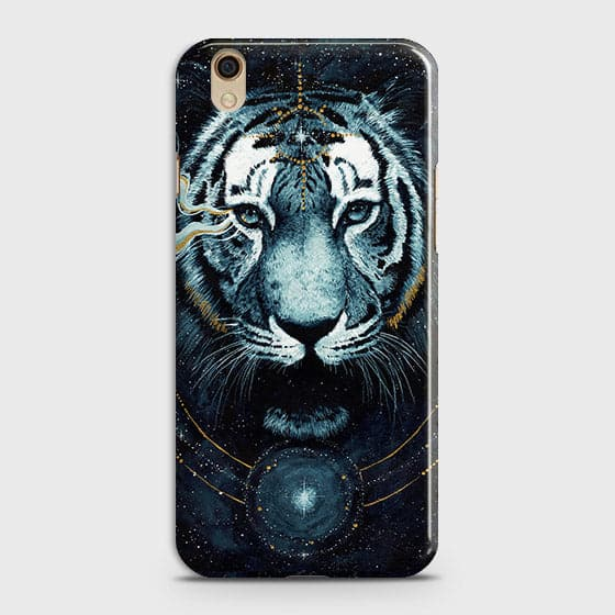 Oppo A37 Cover - Vintage Galaxy Tiger Printed Hard Case with Life Time Colors Guarantee - OrderNation