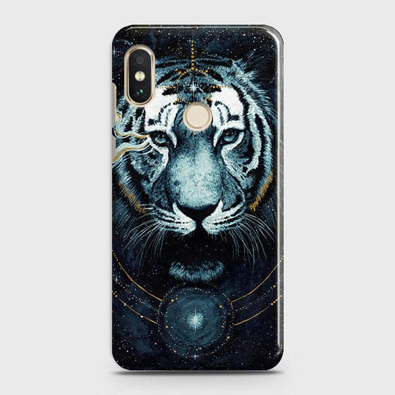 Xiaomi Redmi Y2 Cover - Vintage Galaxy Tiger Printed Hard Case with Life Time Colors Guarantee - OrderNation