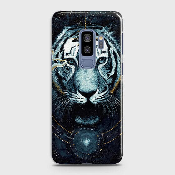 Samsung Galaxy S9 Plus Cover - Vintage Galaxy Tiger Printed Hard Case with Life Time Colors Guarantee - OrderNation