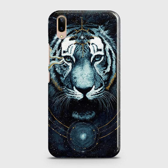 Vivo V11 Pro Cover - Vintage Galaxy Tiger Printed Hard Case with Life Time Colors Guarantee - OrderNation
