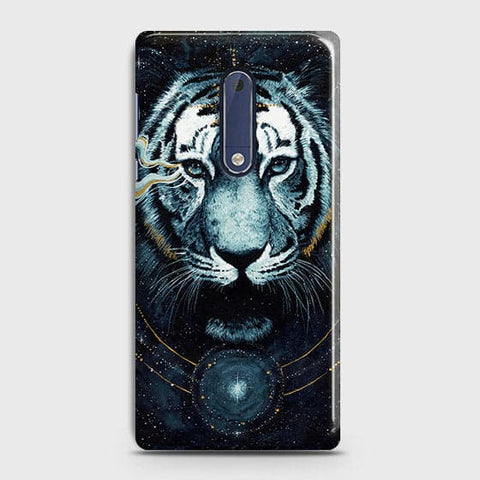 Nokia 5 Cover - Vintage Galaxy Tiger Printed Hard Case with Life Time Colors Guarantee - OrderNation