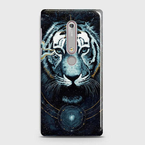 Nokia 6.1 Cover - Vintage Galaxy Tiger Printed Hard Case with Life Time Colors Guarantee - OrderNation