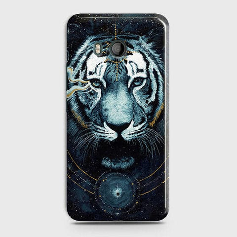 HTC U11 Cover - Vintage Galaxy Tiger Printed Hard Case with Life Time Colors Guarantee - OrderNation