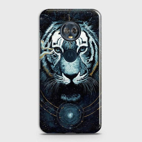 Vintage Galaxy 3D Tiger  Case For Motorola E5 Plus
