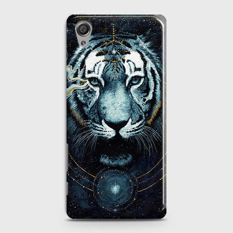 Sony Xperia XA Cover - Vintage Galaxy Tiger Printed Hard Case with Life Time Colors Guarantee - OrderNation