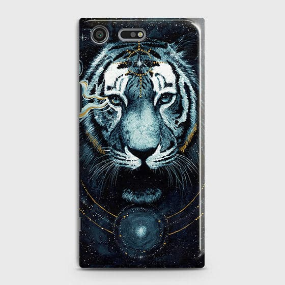 Vintage Galaxy 3D Tiger  Case For Sony Xperia XZ Premium