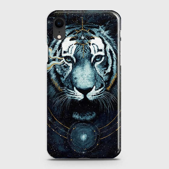 Vintage Galaxy 3D Tiger  Case For iPhone XR