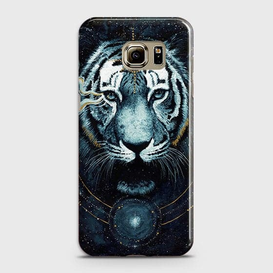 Samsung Galaxy Note 5 Cover - Vintage Galaxy Tiger Printed Hard Case with Life Time Colors Guarantee - OrderNation