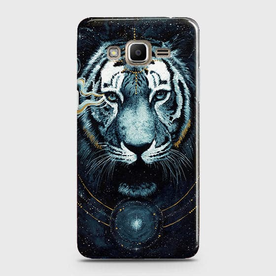 Samsung Galaxy Grand Prime / Grand Prime Plus / J2 Prime Cover - Vintage Galaxy Tiger Printed Hard Case with Life Time Colors Guarantee - OrderNation
