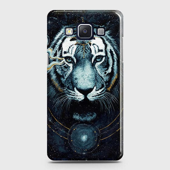 Samsung Galaxy A5 2015 Cover - Vintage Galaxy Tiger Printed Hard Case with Life Time Colors Guarantee - OrderNation