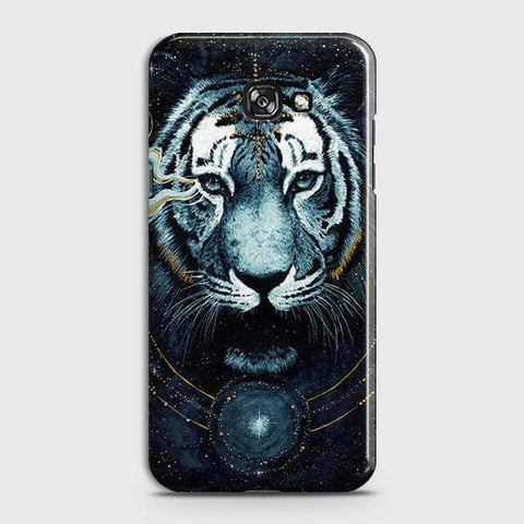 Samsung A7 2017 Cover - Vintage Galaxy Tiger Printed Hard Case with Life Time Colors Guarantee - OrderNation