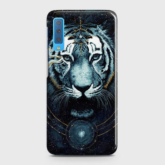 Vintage Galaxy 3D Tiger  Case For Samsung A7 2018