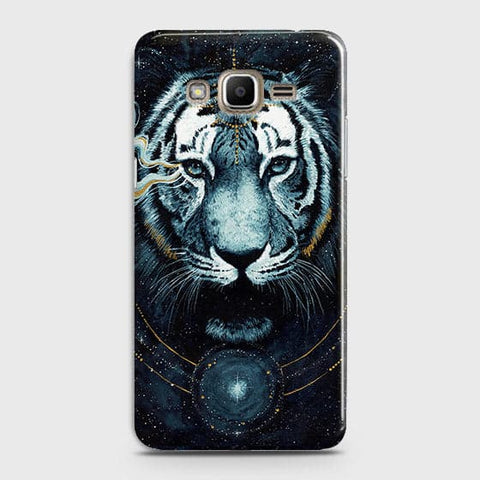 Samsung Galaxy J320 / J3 2016 Cover - Vintage Galaxy Tiger Printed Hard Case with Life Time Colors Guarantee - OrderNation