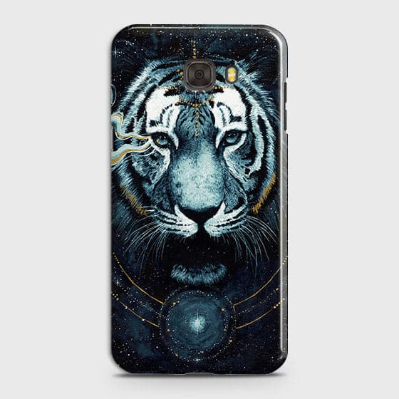 Samsung C9 ProCover - Vintage Galaxy Tiger Printed Hard Case with Life Time Colors Guarantee - OrderNation