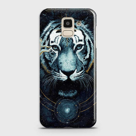 Vintage Galaxy 3D Tiger  Case For Samsung J6 2018