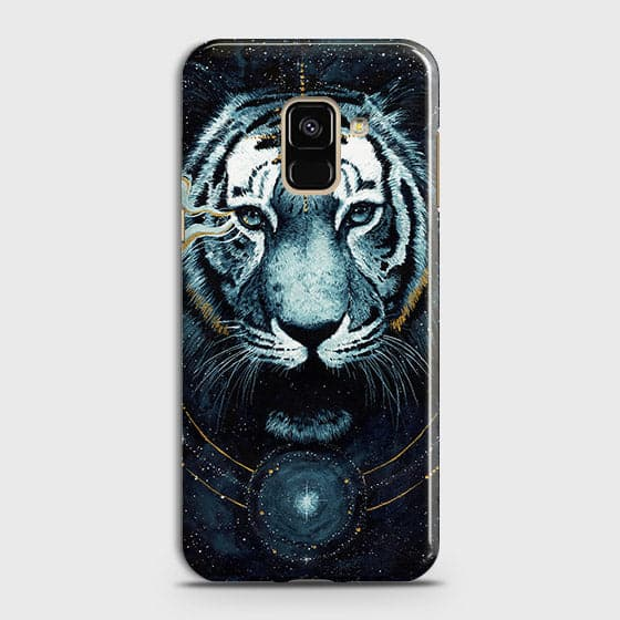 Samsung A6 2018 Cover - Vintage Galaxy Tiger Printed Hard Case with Life Time Colors Guarantee - OrderNation